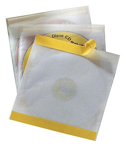 Durable 521019 CD-Selbstklebetasche Fix (für 1 CD, PP, 160 x 241 x 6, 5 mm) 10 Stück transparent