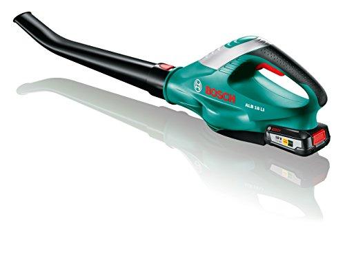Bosch Akku Laubbläser ALB 18 LI (1 Akku, Max. Gebläsegeschwindigkeit 210 km/h, im Karton)