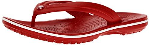 Crocs Unisex-Erwachsene Zehentrenner Zehentrenner Crocband Flip, Rot (Pepper/Weiß), 38-39 (Herstellergröße: M6/W8)
