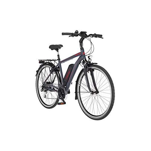 FISCHER Herren - Trekking E-Bike ETH 1806, Elektrofahrrad, dunkel anthrazit matt, 28 Zoll, RH 50 cm, Hinterradmotor 45 Nm, 48 V/422 Wh Akku
