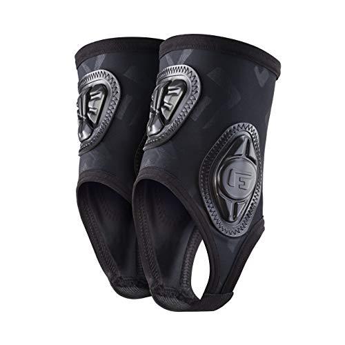 G-Form Pro Knöchelschützer (Herren/Damen) – Protektoren für Fußball, Volleyball, Basketball, Tanzen, Fahrrad mit erweitertem Schlagschutz und verbesserter Flexibilität - Schwarz - Größe L/XL