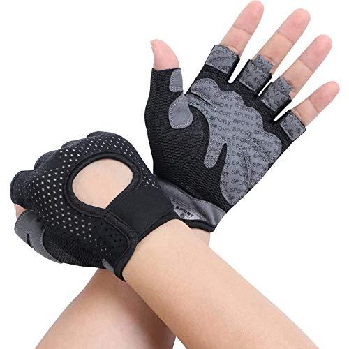 flintronic Fitness Handschuhe, Trainingshandschuhe, Gewichtheben Handschuhe, Trainingshandschuhe für Damen und Herren, Sporthandschuhe für Fitness, Bodybuilding, Kraftsport & Crossfit - L