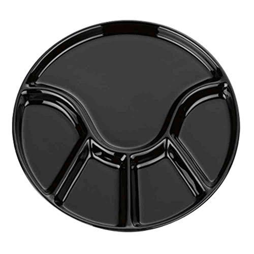 kela 67404 Fondueteller ANNELI 21 cm rund in schwarz glänzend