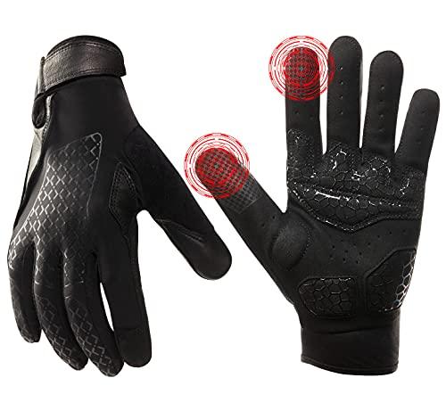Fitnesshandschuhe Gewichtheben Handschuhe Atmungsaktiv - Mikrofaserschutz Gewichtheben Handschuhe, Fitnessstudio Übung Hantel Powerlifting Workout Handschuhe (Schwarz, XL)