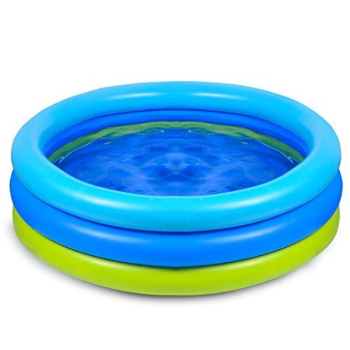 Joyjoz Kinder Planschbecken 120cm Aufblasbares Pool Schwimmbecken Kinderpool Babypool für Garten und Outdoor