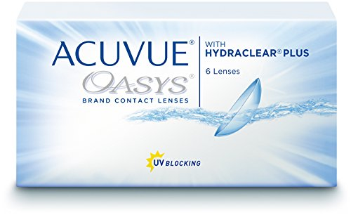 ACUVUE OASYS Kontaktlinsen – 2-Wochen-Linsen für Tag und Nacht mit -3.75 dpt und BC 8.4 – UV Schutz, Austrocknungsschutz & extrem hoher Tragekomfort – 6 Linsen