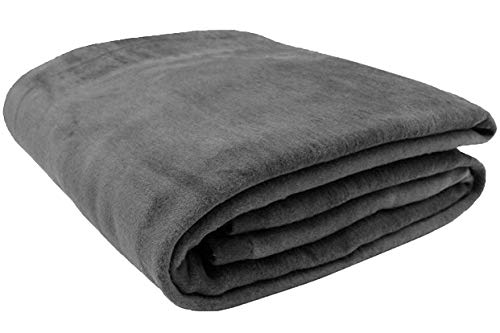 ZOLLNER Wolldecke grau 150 x 200 cm (weitere Farben, Größen), Baumwollanteil
