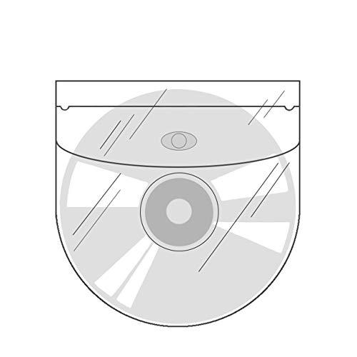CD-Taschen selbstklebend | Transparent | Mit Klappe | 20 oder 100 Stück | CD-Hüllen zum Einkleben | Selbstklebende Hüllen für CD, DVD und Blu-ray / 20 Stück