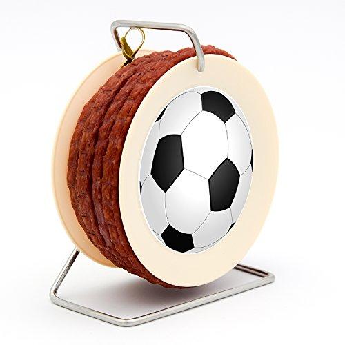 Fußball Wurst Kabeltrommel Liga WM EM - 3,5 Meter Wurst Snack nach Krakauer Art auf einer Mini Kabel-Trommel - 240 g