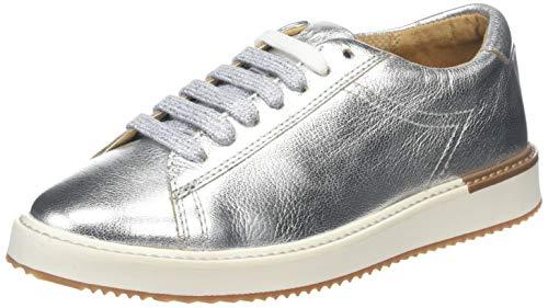 Hush Puppies Damen Sabine Sneaker, Silber (Silver Metallic Leather Silver Metallic Leather), 42 EU