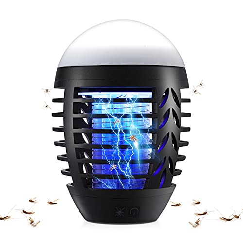 Jionchery Insektenvernichter Elektrisch Mückenlampe wasserdichte Fliegenfalle mit Haken und Hängbar für Innen Schlafzimmer und Aussen Gärten