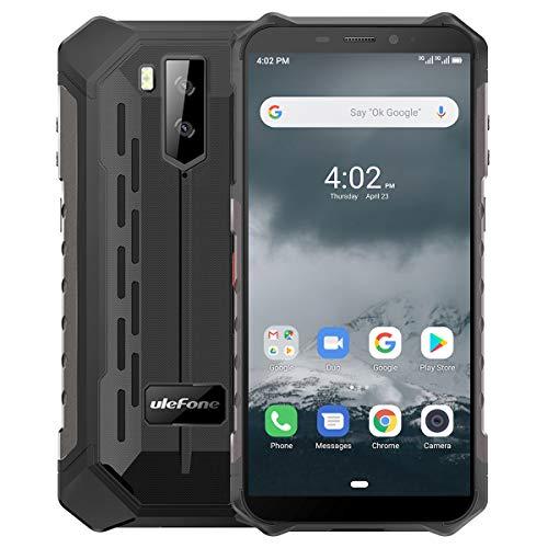 Outdoor Smartphones Ohne Vertrag, Ulefone Armor X3 Handys 5,5-Zoll IP68/IP69K Wasserdicht, 2GB + 32GB, 5000 mAh, Android 9 mit Corning Gorilla Glass, Globales 3G Frequenz-Dual-SIM-Telefon - Schwarz