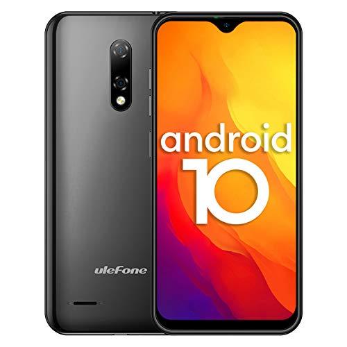4G Handys Günstig, Ulefone Note 8P Smartphone Dual SIM 5,5-Zoll-Wassertropfenbildschirm 16 GB ROM 3-in1-Steckplatz 8MP + 2MP + 5MP Dreifachkameras Gesichtserkennung GPS Android 10 (Schwarz)