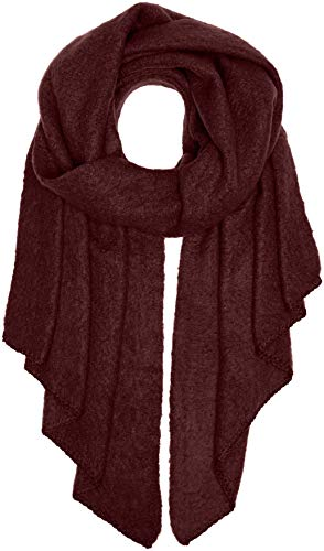 PIECES Damen PCPYRON LONG SCARF NOOS Schal, Rot Winetasting, One Size