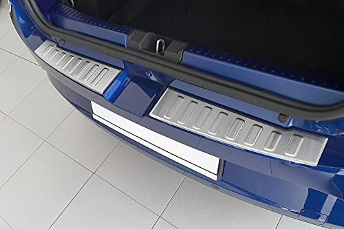 tuning-art BL1016 Ladekantenschutz mit Abkantung für Dacia Sandero 3 / Stepway, Farbe:Silber