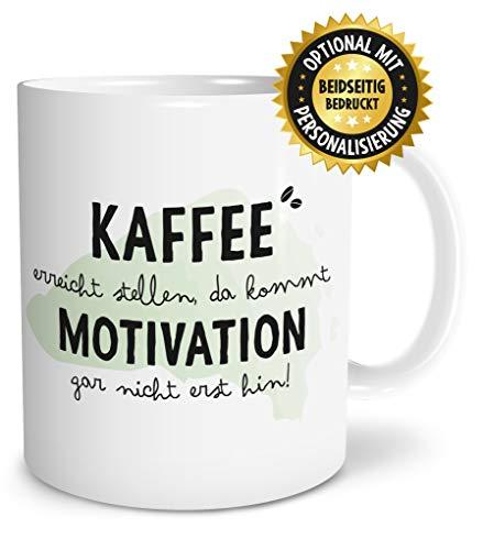 OWLBOOK Kaffee Motivation große Kaffee-Tasse mit witzigen Spruch im Geschenkkarton schöne Geschenkidee Geschenke für Kaffeeliebhaber