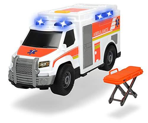 Dickie Toys Medical Responder, Rettungswagen, Spielzeugauto inkl. Trage, Heckklappe zum Öffnen, Licht & Sound, inkl. Batterien, 30 cm groß, ab 3 Jahren