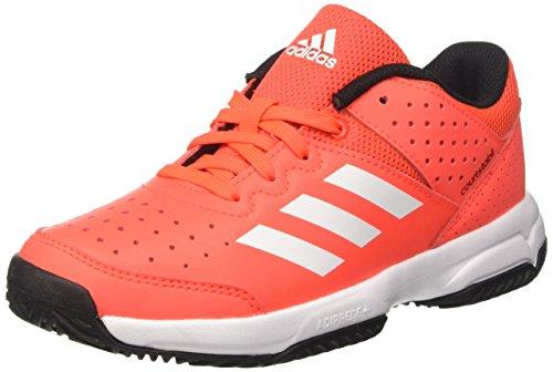 Adidas Court Stabil Jr, Unisex-Kinder Handballschuhe, Mehrfarbig (Solar Red/ftwr White/core Black), 35 EU (2.5 UK)