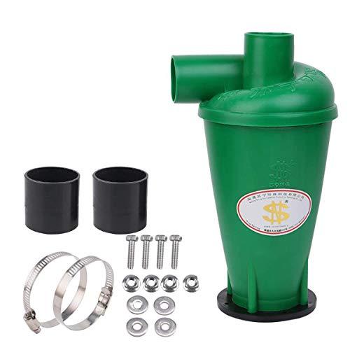 Zyklon Staubabscheider Dust Filter SN50T3 Hochleistungszyklon Pulver Staub Sammler Filter Fliehkraftabscheider Energieffizienzklasse A für Vakuum Mit Flansch Sockel(Grün-1)