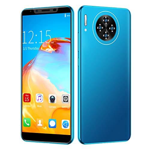 Entsperrtes Smartphone 3G, 5.8in entsperrte Handys Handys, 2MP + 2MP Quad-Kamera, 512 MB + 4 GB, Android 4.4, Dual-SIM, 1800mAh Schnellladung, Unterstützt 128 GB Speicherkarte