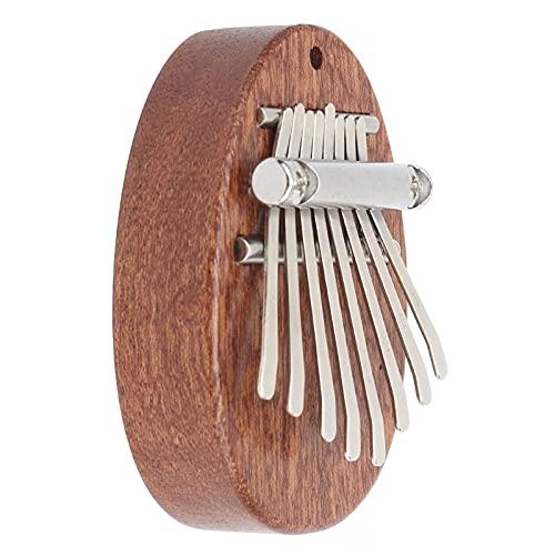 Mini Kalimba, 8 Tasten Daumen Klavier 7 x 5 x 1,7 cm / 2,8 x 2 x 0,7 Zoll mit Lanyard Leichtgewichtler und bequem zu nehmen Netter tragbarer Finger Kalimba für Kinder Musikliebhaber Freunde