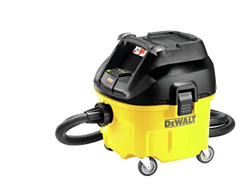 DeWalt Industrie Nass- und Trockensauger/ Bausauger (1,400 Watt, mit automatischer Filterreinigung, Klasse L, Zwei-Filter-System, inkl. AirLock-Adapter und Saugsack) DWV901L\