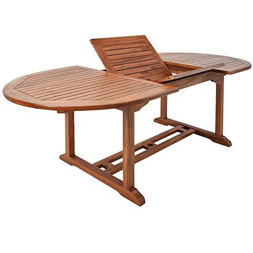 Deuba Gartentisch Vanamo FSC®-zertifiziertes Eukalyptusholz wetterbeständig 200x100cm Holz Tisch Gartenmöbel Garten Terrasse