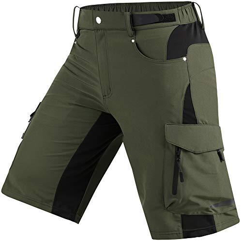 Cycorld Wanderhose Herren Kurz Trekking Shorts, Outdoor Shorts Schnell Trocknend Hiking Shorts Herren mit 6 Taschen, Herren Wandern-Trekking-Radfahren-Camping Hose Kurz (BergGrün, M)