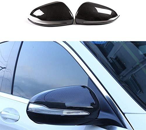 Ersatz-Carbon-Faser-Rechts-Antrieb Rearviewspiegelabdeckung Automotive Trim Spiegelverkleidung for Mercedes Benz C E GLC S-Klasse W205 W213 Außenspiegel 814 (Color : Carbon Fiber)