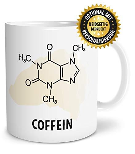 OWLBOOK Coffein Formel große Kaffee-Tasse mit Spruch im Geschenkkarton schöne Geschenkidee Geschenke für Kaffeeliebhaber