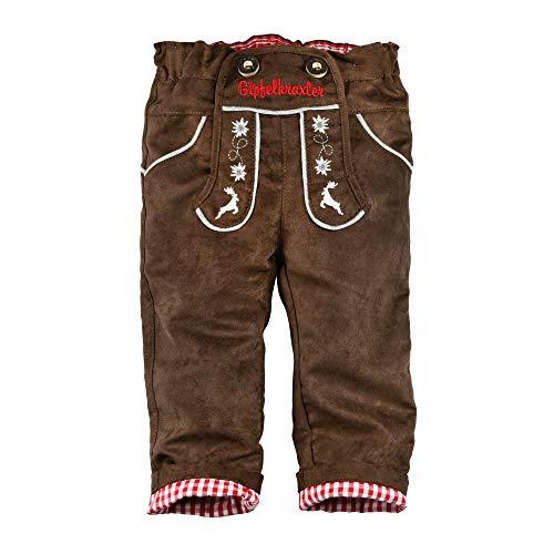 BONDI Kunstlederhose gefüttert, braun 68 Tracht Baby Jungs Artikel-Nr.91210