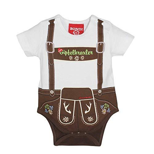 BONDI Baby Body Lederhose ´Gipfelkraxler´ Herzbube Gr. 50