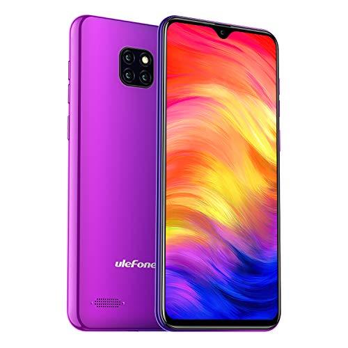 Ulefone Note 7 Smartphone (Android 9.0 Handy, 16GB interner Speicher, 15,49cm (6,1 Zoll) Display, 8MP+2MP+2MP Rückkamera, DuaL SIM, Face ID) - Twilight