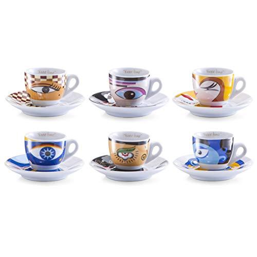 Zeller 26510 Espressotassen Set 12-teilig Magic Eyes