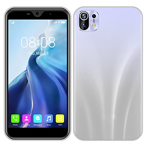 Android-Handys, SIM-freies Smartphone mit 11,4 cm (4,5 Zoll) HD-Display, Dual-SIM, Dual-Kameras, unterstützt WLAN, GPS, Bluetooth-Handys (M11mini-weiß)