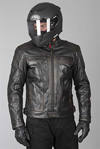 Richa Motorrad-Lederjacke Detroit Braun