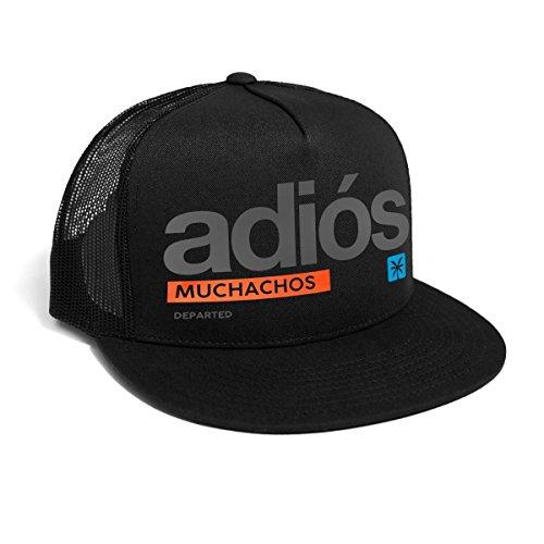 DEPARTED Herren Mesh Trucker Hat mit Print/Aufdruck - Snapback Cap - No. 70, Black