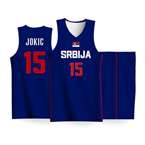 Serbien 15# Nikola Jokic Herren-Basketball-WM-Trikot für den internationalen nationalen Wettbewerb für feuchtigkeitsableitende Stoffe für Kinder-1-S