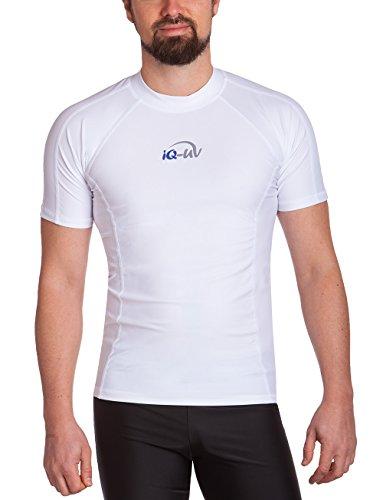 iQ-UV Herren UV 300 Slim Fit Kurzarm T-Shirt, weiß (weiß), L (52)