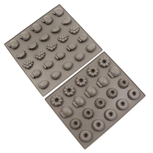 Silikon Backform Silikonmatte Backmatte Wiederverwendbare für Backen Schokolade Süßigkeiten, Backofen Gefrierschrank, Hundekekse und Hundeleckerlies DIY, Katzen Leckerli (2 PCS)