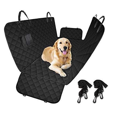 Carttiya Hunde Autoschondecke mit Seitenschutz & Taschen, Universal Kofferraumschutz für Hunde, Wasserdicht und Anti-Rutsch Hundedecke für Auto/Van/SUV