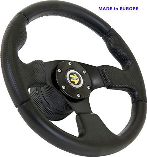 [DTi M10] Dorado Tuning Sportlenkrad/Lenkrad Ø 320mm Rallye/Drift/Rannen/Universal/Schwarz/Special Perforiertem Griffbereich