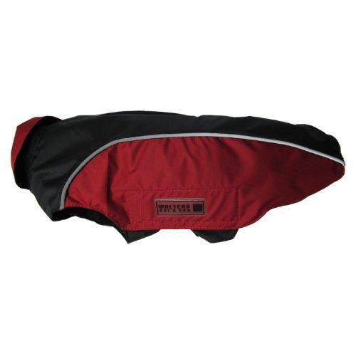 Wolters | Regenjacke Easy Rain in Schwarz/Rot | Rückenlänge 24 cm