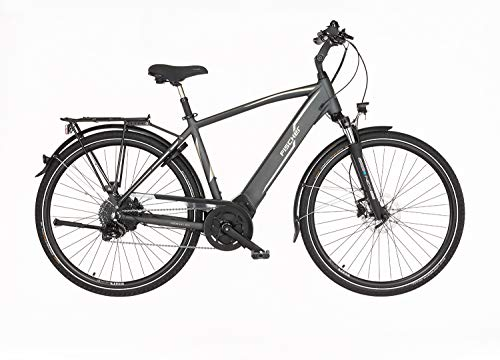 FISCHER Herren - Trekking E-Bike VIATOR 5.0i, Elektrofahrrad, grau matt, 28 Zoll, RH 55 cm, Brose Drive C Mittelmotor 50 Nm, 36 V Akku