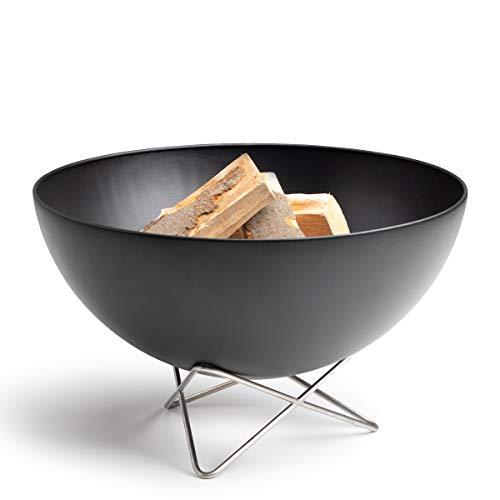 höfats - Bowl Feuerschale mit Drahtfuß - als Feuerstelle, Grill und Plancha nutzbar - für Garten und Terrasse - Stahl emailliert - schwarz…