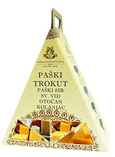 Pager Käse - PAŠKI SIR Käse Delikatessen Geschenkideen Box Trokut (Einweg)