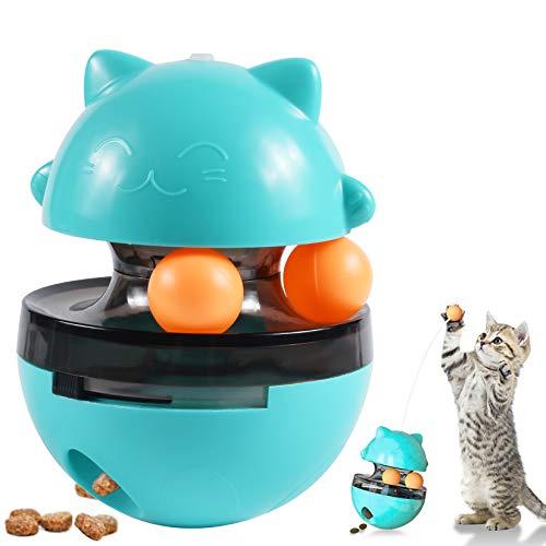 OMZGXGOD Interaktives Spielzeug für Katzen,Futterball für Katzen Interaktiv Katzenspielzeug Tumbler Haustierfutter für Langsam Fütterung Training Nahrungsuche