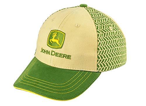 John Deere Kinder Cap Johnny's Track in Grün-Beige mit gelben Akzenten