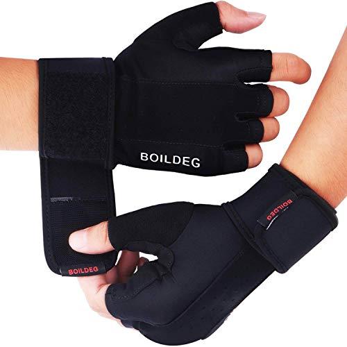 Fitness Handschuhe,Trainingshandschuhe,Gewichtheben Handschuhe für Bodybuilding Crossfit,Damen&Herren (SCHWARZ, L)