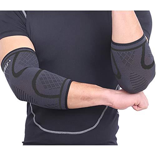 LORYLOLY 1 Paar Sport Ellenbogenbandage Damen Herren, Atmungsaktiver Anti-Rutsch Gelenk-Bandage für Sicherheit und Schmerzlinderung, Ellenbogenschoner für Laufen, Wandern, Joggen, Volleyball, Gym